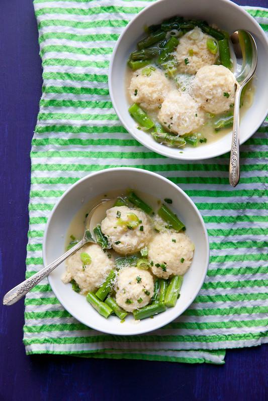 Ricotta Dumplings with Green Garlic and Asparagus - Annie's EatsAnnie ...