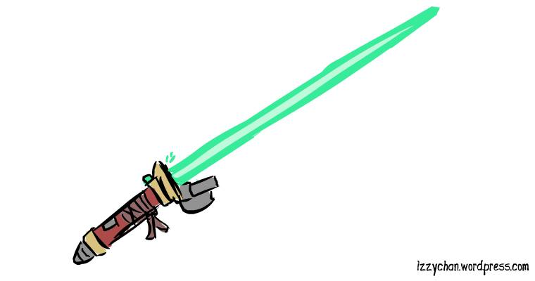 green lightsaber star wars
