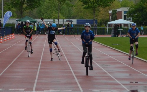 Unicycle race in Duisburg