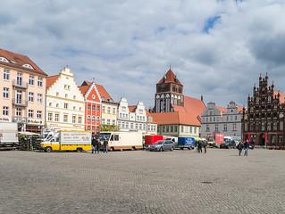 Giebelhäuser am Marktplatz im Zentrum der Altstadt