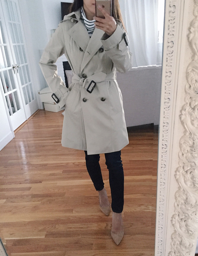 london fog nordstrom petite trench coat