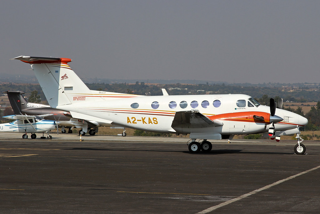 Image result for AIR KALAHARI Beechcraft KingAir B200 aircraft A2-MBM