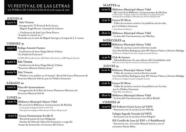 AionSur 34530678312_061e69fd57_z_d La VI edición del Festival de Las Letras de La Puebla reivindica recuperar la cultura de la palabra La Puebla de Cazalla Provincia