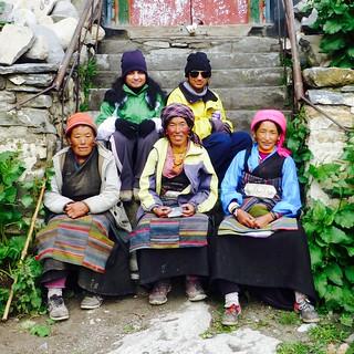 Me with Tibetian locals