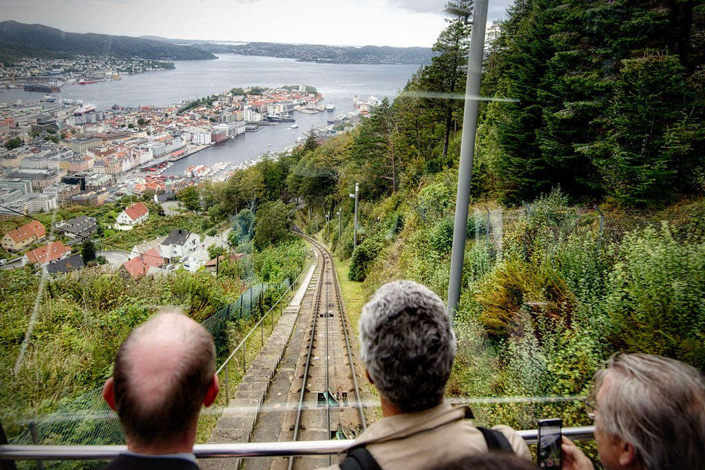 On the Fløibanen Funicular