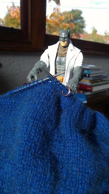 Batman knitting