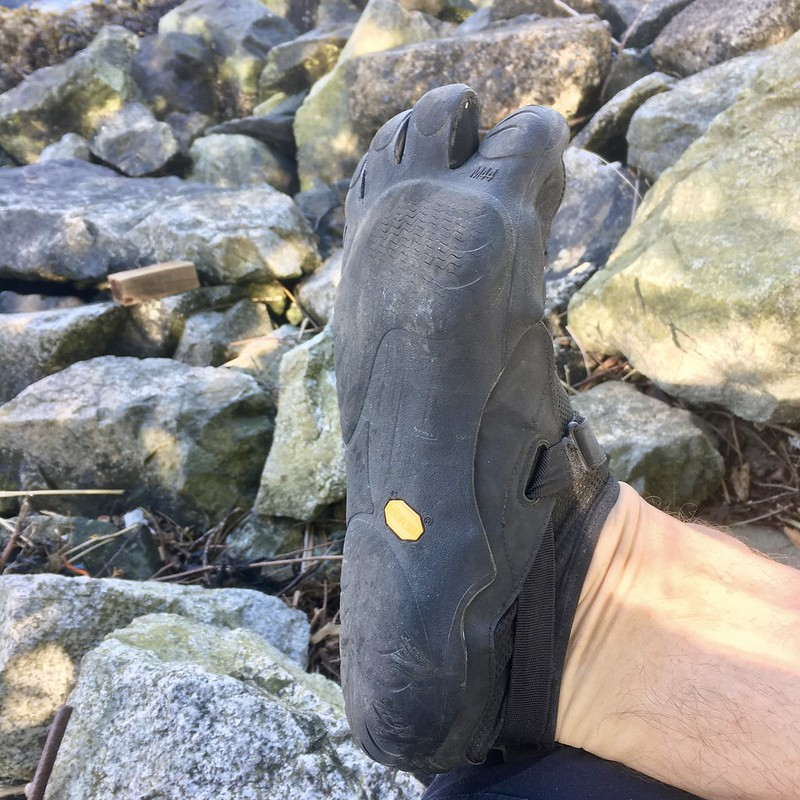 Vibram KSO sole and toe flex