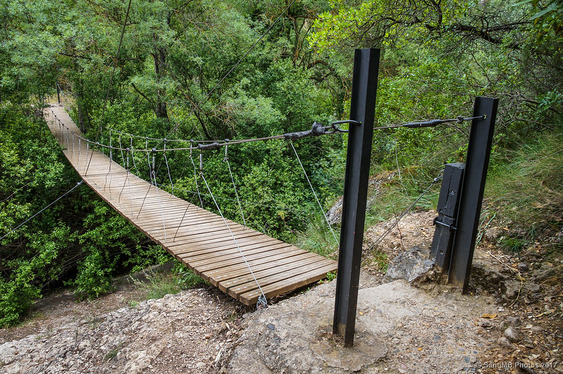 Lo Pont Penjat del Congost de Fraguerau