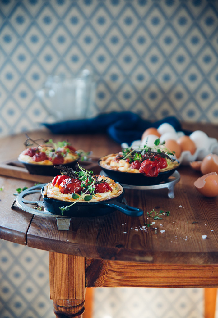 Cherry tomato & Goat Cheese Pies | Cashew Kitchen