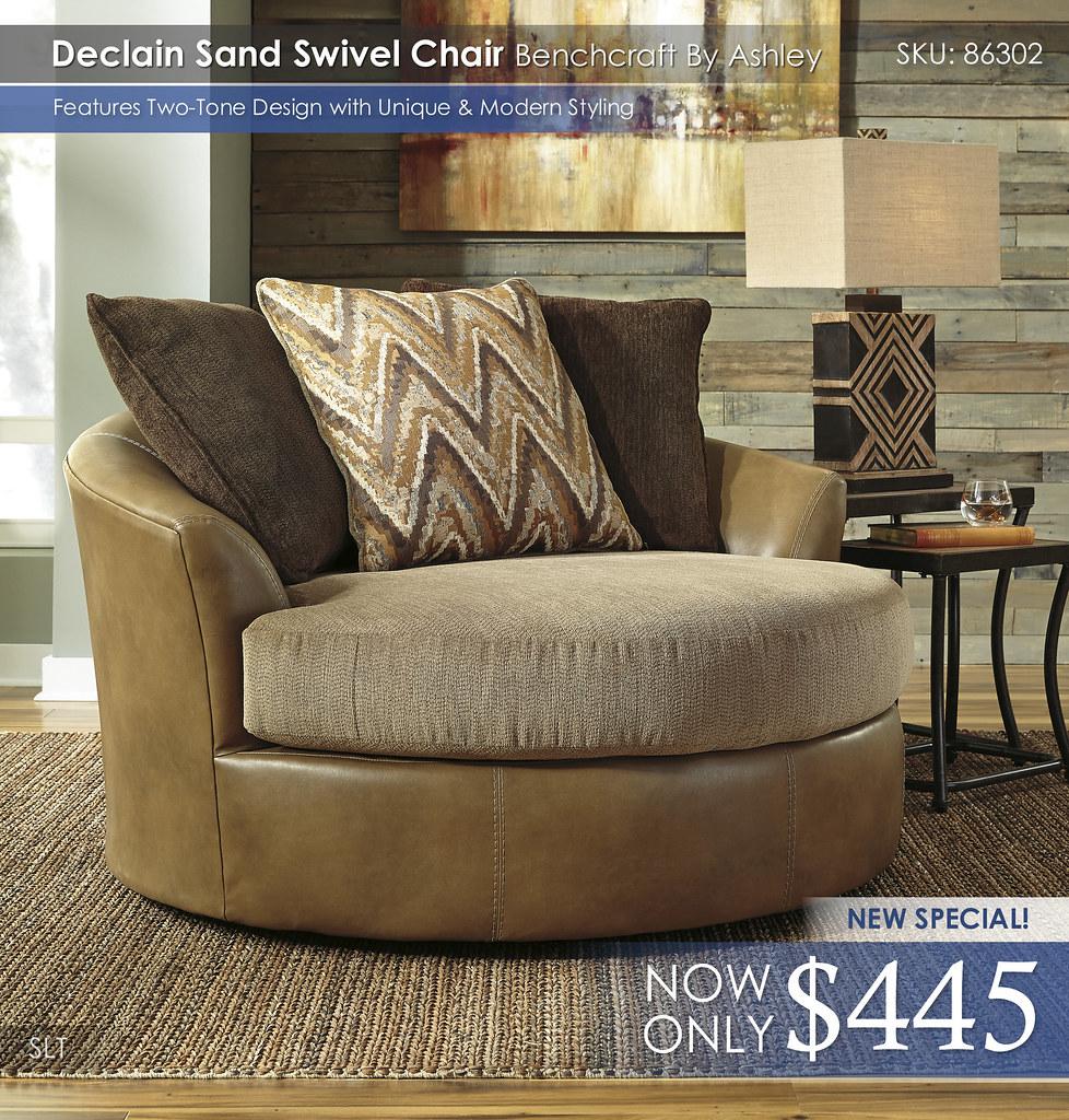 Declain Sand Swivel Chair 86302-21