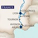 AmaCello Rhone Itinerary Map