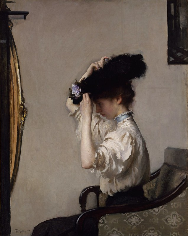 Edmund Charles Tarbell - Preparing for the Matinee (1907)