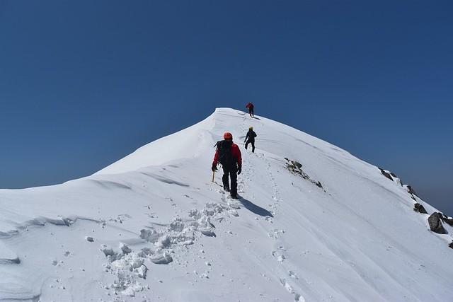 中央アルプス・三ノ沢岳 雪山登山