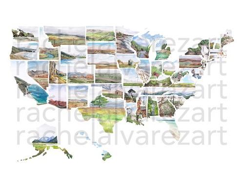 Artist Rachel Alvarez - US Map