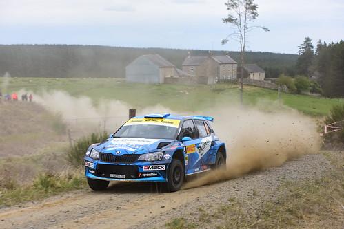David Bogie - Kevin Rae, Škoda Fabia R5, MSA British Rally Championship, Carlisle 2017
