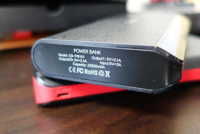 Canbor モバイルバッテリー 22000mAh 携帯充電器 スマート 大容量 3USB出力ポート iPhone iPad Galaxy Xperia Nexusなど適用