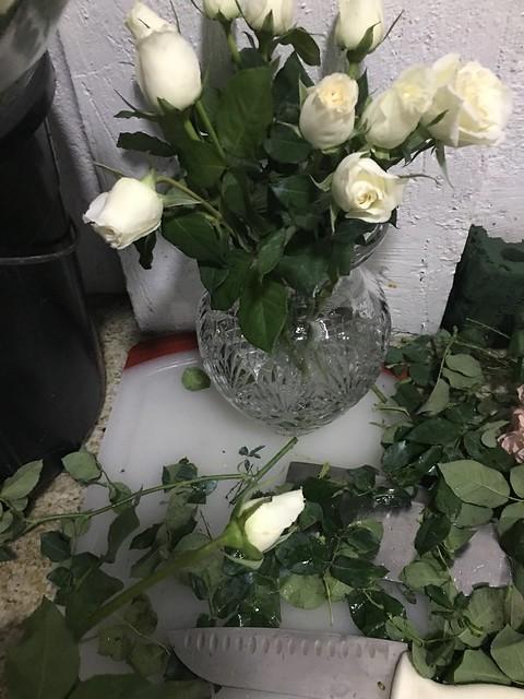 flower arranement for OMB dinner