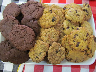 Chocolate/Oatmeal Raisin/Peanut Butter Chocolate Chip Cookies