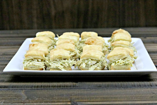 Chicken Pesto Puff Pastry Sandwich Bites