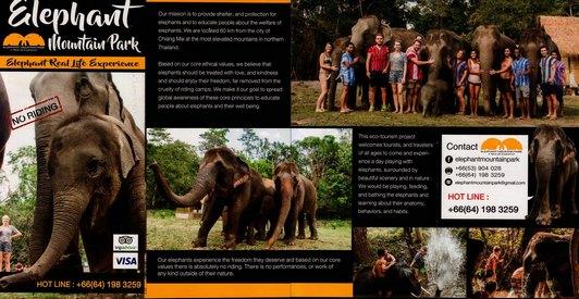 Elephant Mountain Park Chiang Mai Thailand Brochure 01