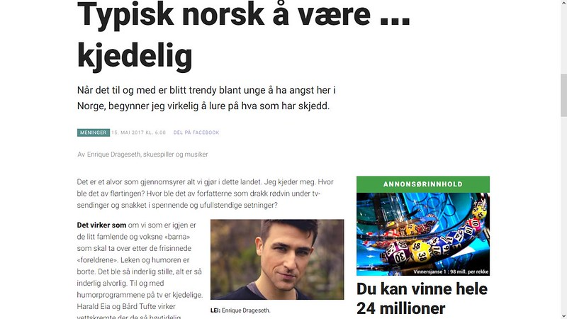 typisk norsk å være kjedelig 2