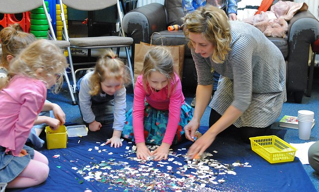 The blue planet activity from chapter 2 of Messy Church Does Science