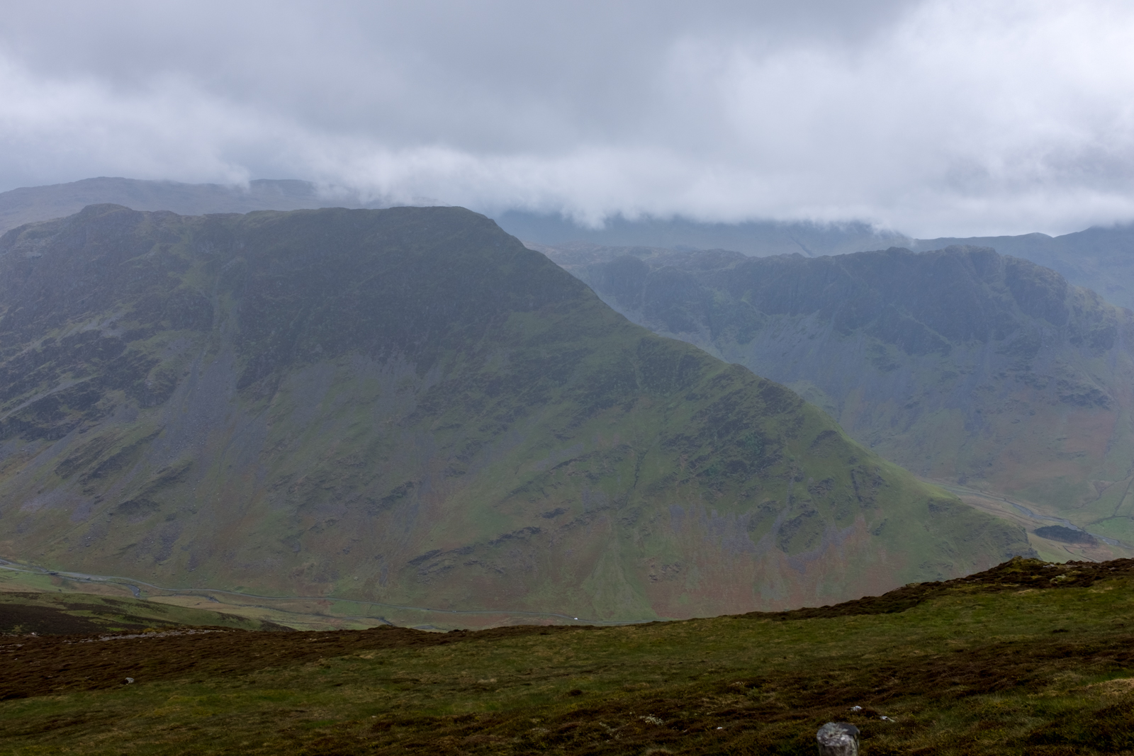 Looking back over to Fleetwith Edge, from Littledale Edge
