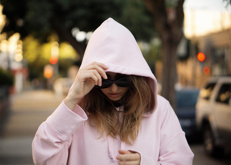 zara larsson & hm oversized hoodie