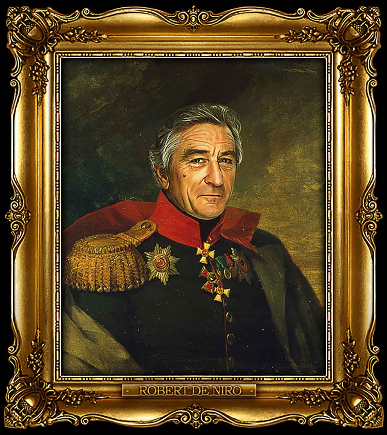 Artist Turns Famous Actors Into Russian Generals - Robert De Niro