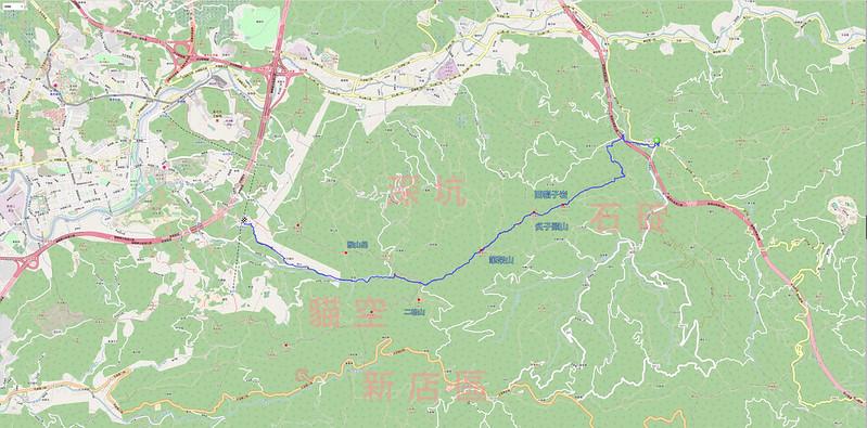 筆架連峰軌跡地圖