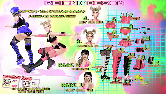 REIGNxBESOM- DERBY QUEEN GACHA SET