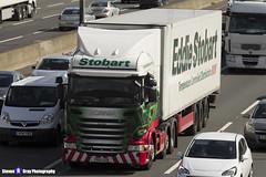 Scania R450 - PO15 UZB - H2392 - Lisa Bev - Eddie Stobart - M1 J10 Luton, Bedfordshire - Steven Gray - IMG_8114