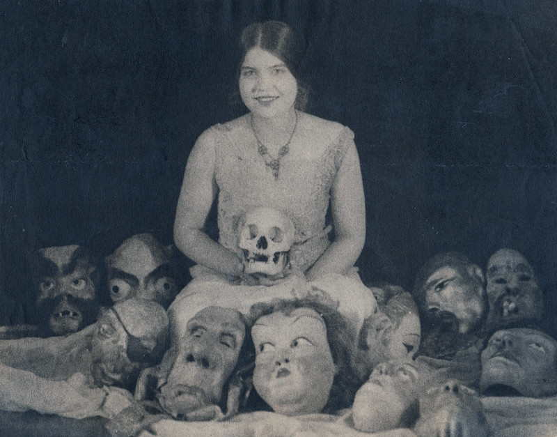 William Mortensen - Courtney with Masks, 1926