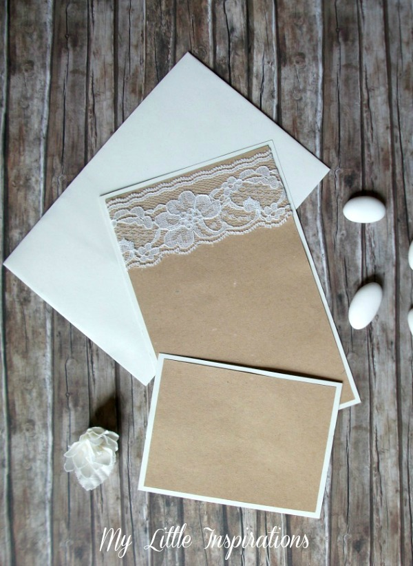 Matrimonio Rustico Romantico : My little inspirations inviti handmade per matrimonio