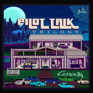 Curren$y - Pilot Talk Trilogy (Front) | by fortyfps