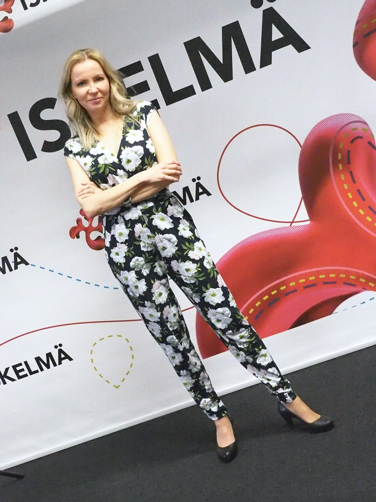 Wild at Heart Print Jumpsuit by Oasis Finland