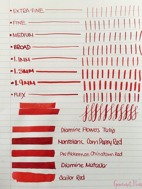Ink Shot Review Diamine Flowers Tulip @AppelboomLaren  3