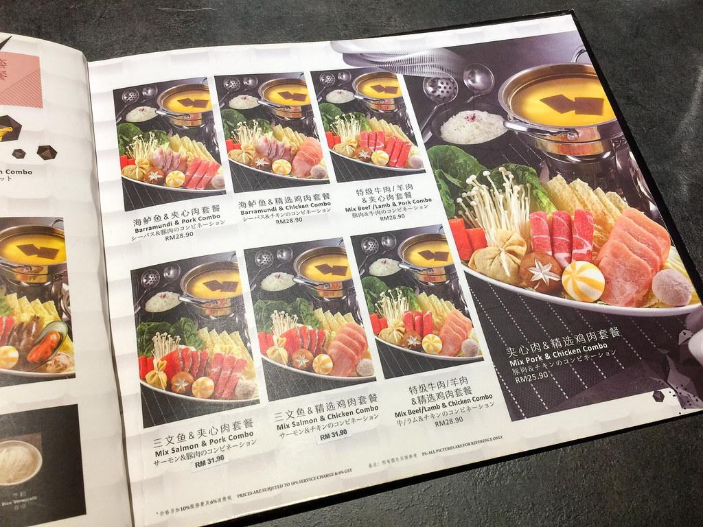 More combo meat Shabu-Shabu set at Arashi Shabu-Shabu MyTown, Cheras.