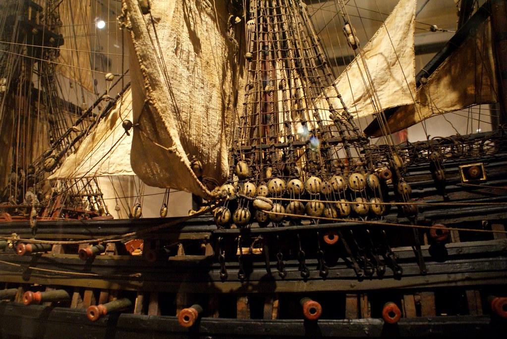 Maquette d'un vaisseau de guerre au 17e /18e ?