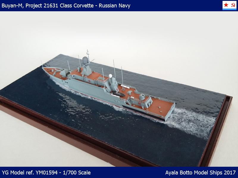 Corvette Buyan-M, Projet 21631 Marine Russe   YG Model 1/700 34101866932_2caec34e0d_o