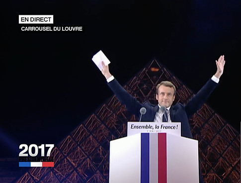 17e07 Macron elegido presidente en el Louvre Uti 485