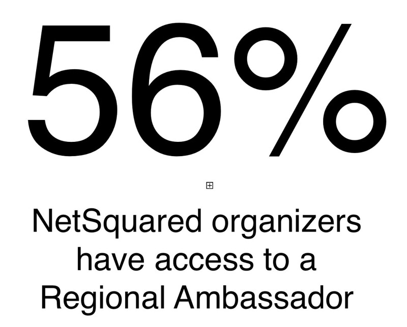 Percent of NetSquared organizers with access to Ambasador