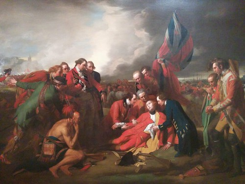 Detail, The Death of General Wolfe (1770)