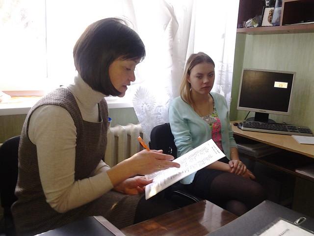 Індивідуальна бесіда з ученицею 30 ШЛПМ групи Калугою Веронікою