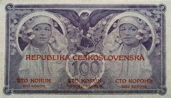 100 Kč 1919 Mucha