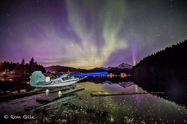 2017 4-23 Ron Giles Aeronca 7AC-5352  under Northern Lights Auke Lake JPG FB