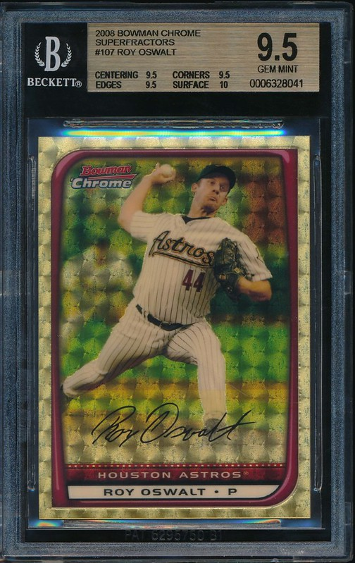 2008 Bowman Chrome Superfractors #107 BGS 9.5