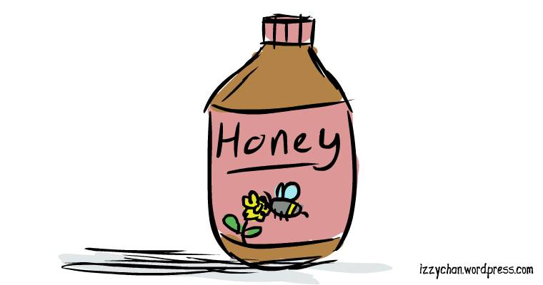 honey in a bottle
