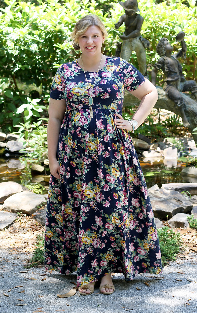 navy floral maxi dress 6