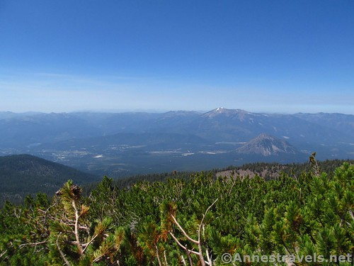Black Butte (R) and the Trinity Alps from the Hidden Valley Trail, Shasta-Trinity National Forest, California